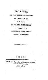 Opere di Filippo Baldinucci