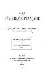 À la démocratie française