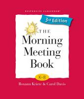 The Morning Meeting Book PDF