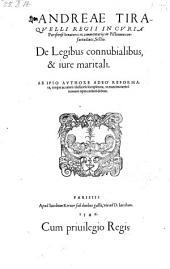 De legibus connubialibus et jure maritali, ab ipso authore reformata ... ac ... locupletata