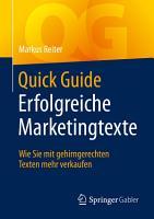 Quick Guide Erfolgreiche Marketingtexte PDF