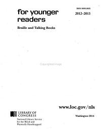 For Younger Readers  Braille and Talking Books PDF