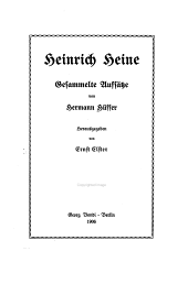 Heinrich Heine: gesammelte Aufsätze