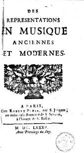 Des représentations en musique anciennes et modernes