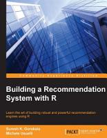 Building a Recommendation System with R PDF
