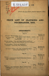 Prices of Clothing and Necessaries: Regular Forces and Militia