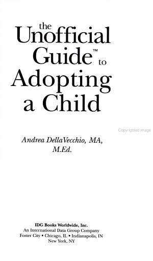 The Unofficial Guide to Adopting a Child PDF