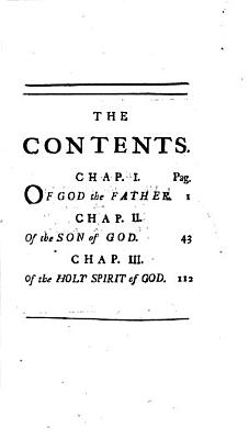 The Scripture Doctrine of the Most Holy and Undivided Trinity  Vindicated from the Misinterpretations of Dr  Clarke