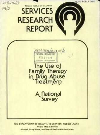 The Use of Family Therapy in Drug Abuse Treatment PDF