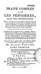 Traité complet sur les pépinières