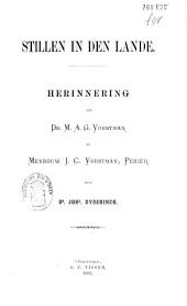 Stillen in den lande: herinnering aan Dr. M. A. G. Vorstman en Mevrouw J. C. Vorstman, Perier