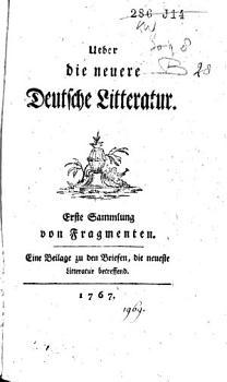 ber die neuere deutsche Litteratur PDF