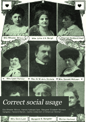 Correct social usage: a course of instruction in good form, style and deportment, Volume 1