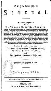 Polytechnisches Journal: Band 55