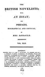 The British Novelists Book PDF