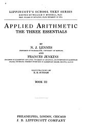 Applied Arithmetic: The Three Essentials, Book 3