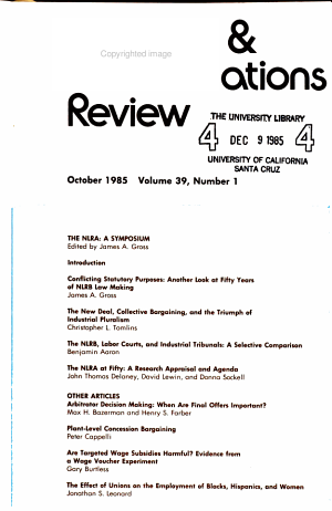 Industrial   Labor Relations Review PDF