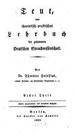 Teut  oder theoretisch praktisches Lehrbuch der gesammten Deutschen Sprachwissenschaft PDF