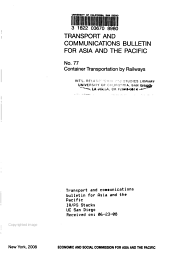 Transport and Communications Bulletin for Asia and the Pacific