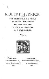 The Hesperides & Noble Numbers: Volume 1