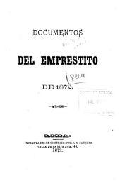 Documentos del Emprestito de 1872