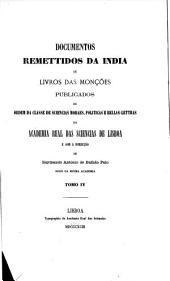 Collecção de monumentos ineditos para a historia das conquistas dos Portuguezes, em Africa, Asia e America: i.e.17a 1935, 18-20. Documentos remettidos da India