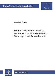 Die Fernabsatzfinanzdienstleistungsrichtlinie 2002 65 EG PDF