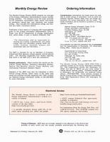 Monthly Energy Review  February 2000 PDF