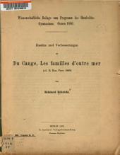 Zusatze und Verbesserunger zu Du Cange, Les familles d'outre mer