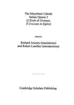 The Meyerbeer Libretti  Italian operas 3 PDF