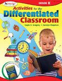 Activities for the Differentiated Classroom  Kindergarten PDF