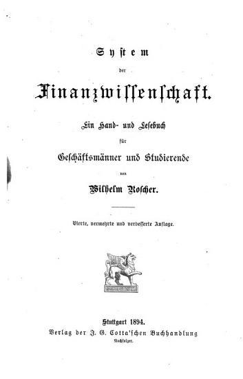 System der Volkswirthschaft PDF