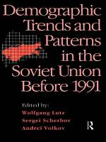 Demographic Trends and Patterns in the Soviet Union Before 1991 PDF