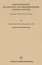 Arbeiten des MPI für Kohlenforschung