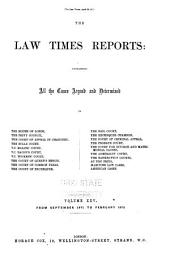The Law Times Reports of Cases Decided in the House of Lords, the Privy Council, the Court of Appeal ... [new Series]: Volume 25