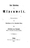 Das Thierleben der Alpenwelt PDF