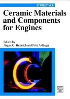 Ceramic Materials and Components for Engines PDF