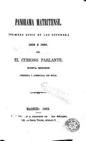 Panorama matritense: (primera serie de las escenas) 1832-1835