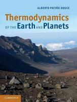 Thermodynamics of the Earth and Planets PDF