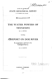 The Water Powers of Tennessee: Issue 17