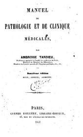 Manuel de pathologie et clinique médicales