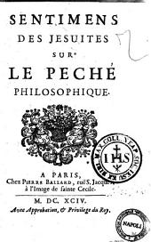 Sentimens des Jesuites sur le peché philosophique