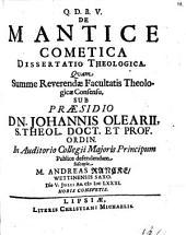 De mantice cometica diss. theol