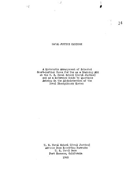 Download Naval Justice Casebook Book