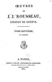 Oeuvres de J.J. Rousseau ...