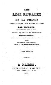 Les lois rurales de la France: rangées dans leur ordre naturel, Volume2