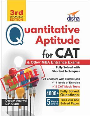 Sample  Quantitative Aptitude for CAT   other MBA Entrance Exams 3rd Edition PDF