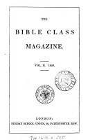 The Bible class magazine  ed  by C H  Bateman   PDF