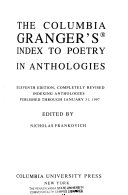 The Columbia Granger s Index to Poetry in Anthologies PDF
