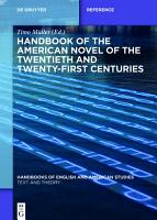 Handbook of the American Novel of the Twentieth and Twenty First Centuries PDF